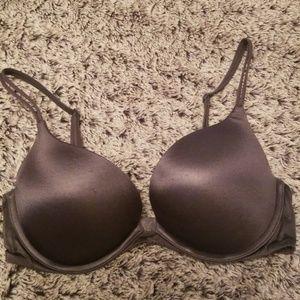 Victorias Secret Gray Very Sexy Push Up Bra 34C